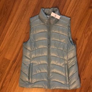 NWT Baby blue puffer vest from LOFT